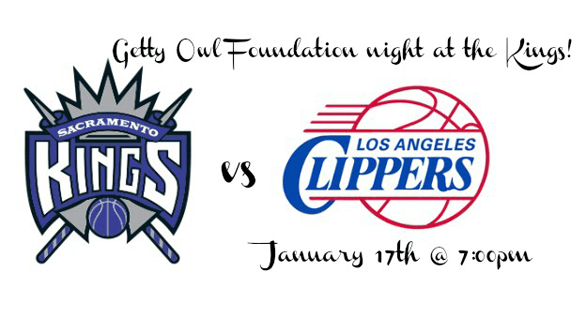 Getty Owl Foundation night at the Kings - January 17 at 7pm